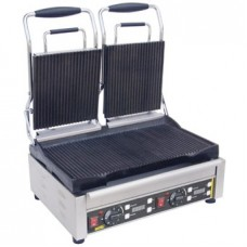 Buffalo contact grill dubbel gegroefd/gegroefd